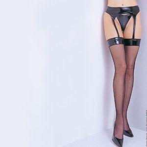 Leg Avenue Intimates & Sleepwear - 🆑 NWT Alluring Wet Look Garter Belt Thigh High...
